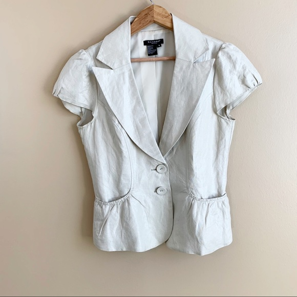 Sandro short sleeve jacket linen blend RELISTED